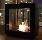 A Modern Ventless Fireplace