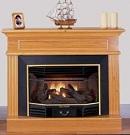 Newport Oak Ventless Fireplace