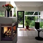 See Through Ventless Fireplace